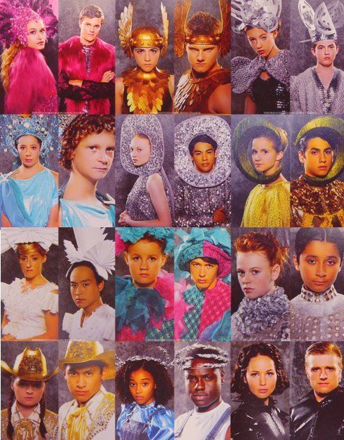 The tributes in their costumes for the hunger games