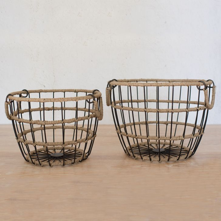 Jute Wrapped Wire Baskets | Wire basket, Jute and Products