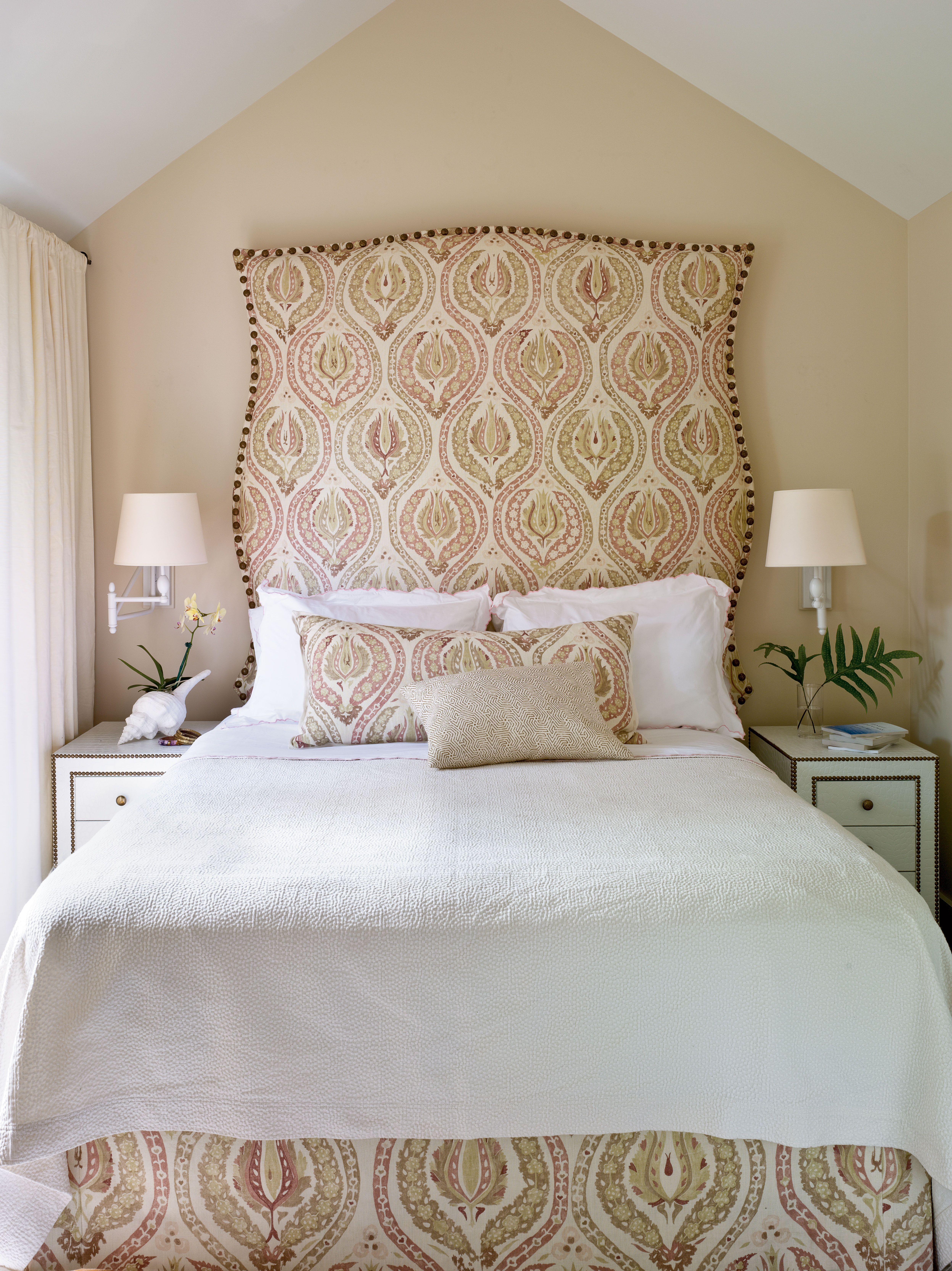 Master bedroom upholstered headboard key west style pinterest