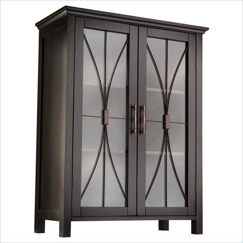 Delaney 2-Door Floor Cabinet in Dark Espresso