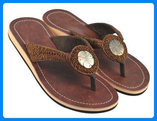 Amboss Damen Sandalen Mit Echt Leder Und Hibiskusblutendesign Gr 42 Zehentrenner Fur Frauen Partner Link Fashion Sandals Miller Sandal Brown Sandals