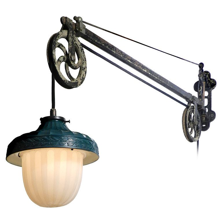 Bathroom Lighting Fixtures Usa all original swing arm dental pulley lamp | pulley, dental and swings
