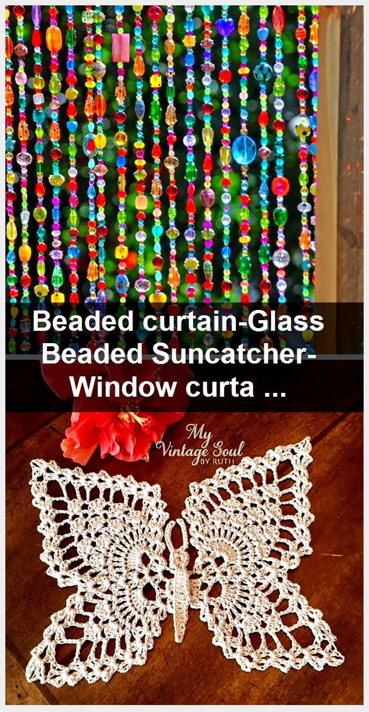 Beaded curtain-Glass Beaded Suncatcher- Window curtain-beaded door curtain-hanging door beads-beaded wall hanging-bohemian wall art-wall art,  #Art #ArtWall #Beaded #beadsbeaded #curtainbeaded #curtainGlass #curtainhanging #door #hangingbohemian #Suncatcher #Wall #window