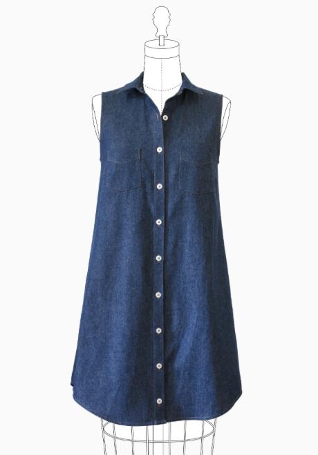 Grainline: Alder Shirtdress – Fabrications