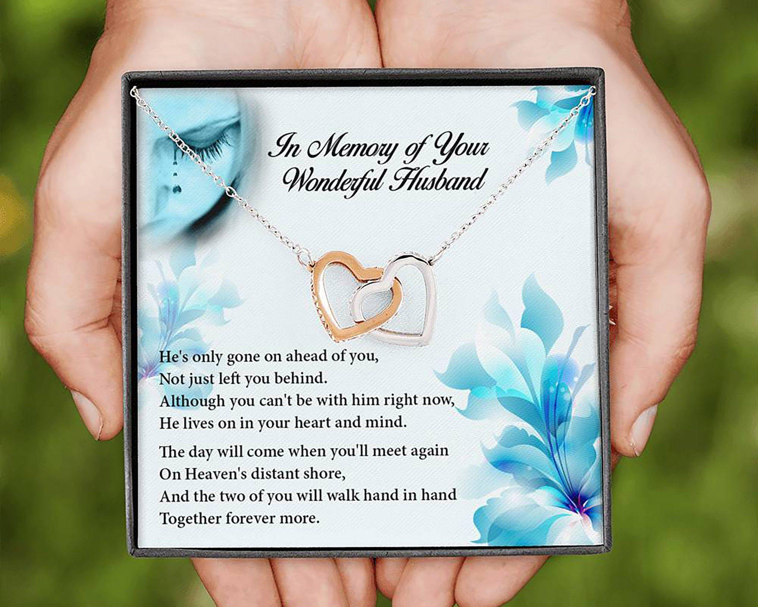 Husband memorial necklace husband remembrance necklace