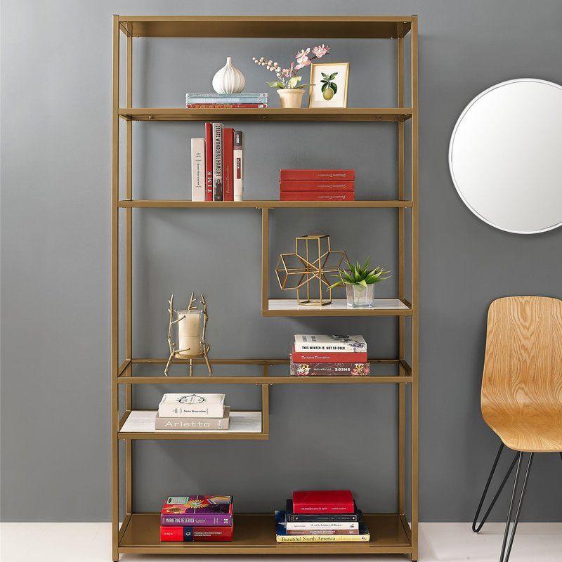 Selzer Geometric Etagere Bookcase Dorel Living Home Decor