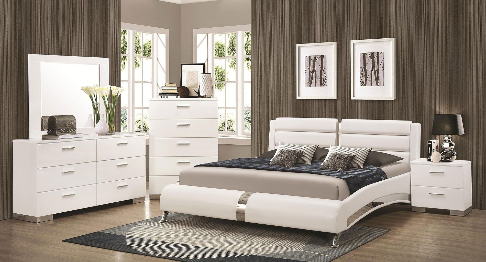 Black Contemporary Bedroom Set Pleasing Felicitybedroomsetwjeremainebedwhite  My Style  Pinterest Decorating Design