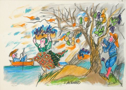 Lele Luzzati L'autunno Ilustraciones