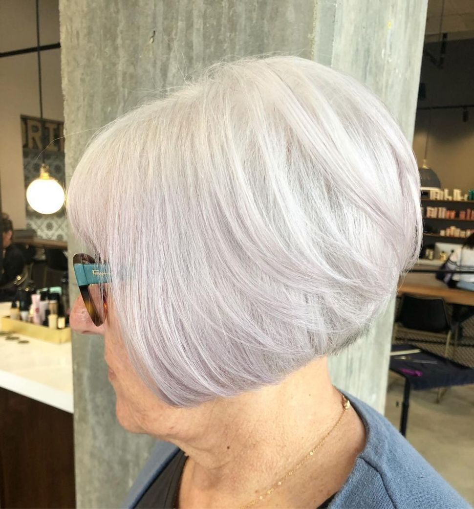Silver Bob Hairstyle For Women Over 70 In 2020 Hair Styles Cool Hairstyles Womens Hairstyles