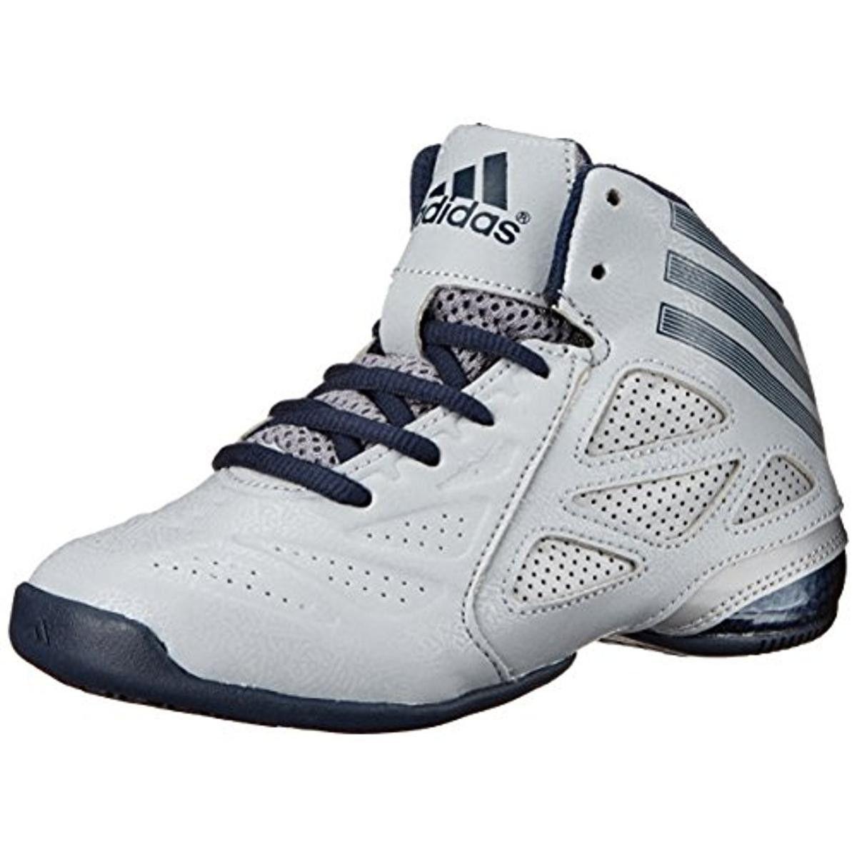 b3938f41b8a438 Adidas Boys Performance Faux Leather Basketball Shoes