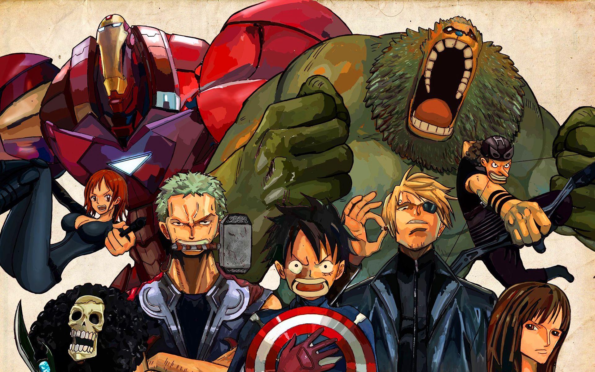 One Piece Avengers wallpaper  17ab8991d91