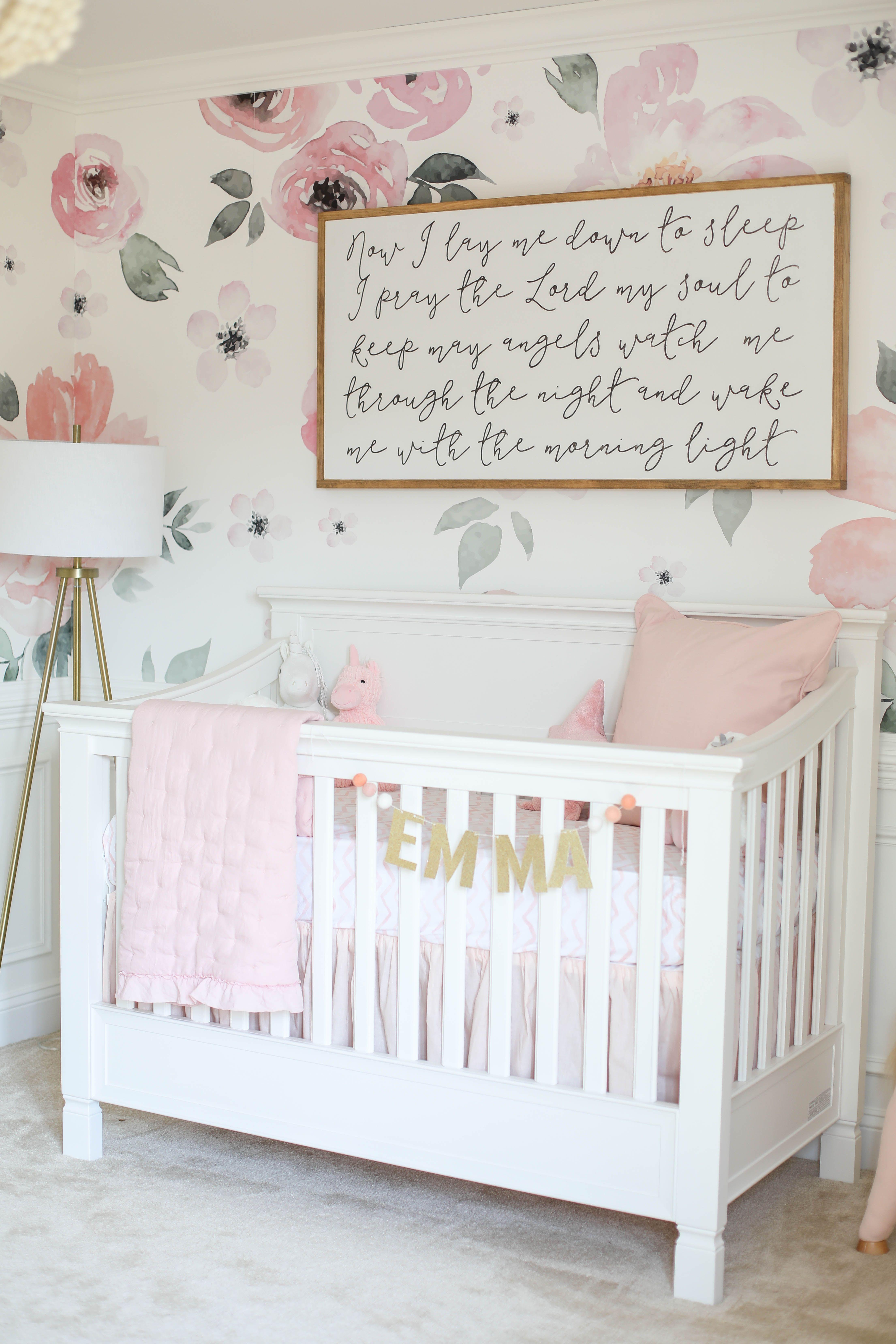Baby Emma S Nursery Reveal Baby Girl Nursery Room Pink Floral