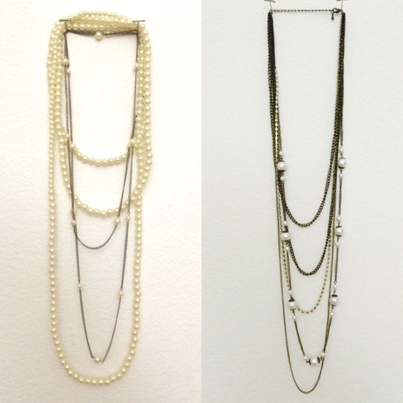 Layered Necklace Bundle These necklaces have been well loved. Perfect for layering on for work or a night out. Forever 21 Accessories
