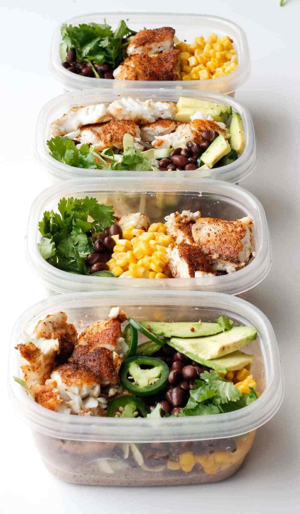 Easy Quinoa Fish Taco Bowls Rezept Healthier Recipes