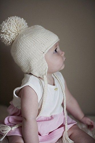 Free Knitting Pattern For Baby Earflap Hat Knit Seamlessly With