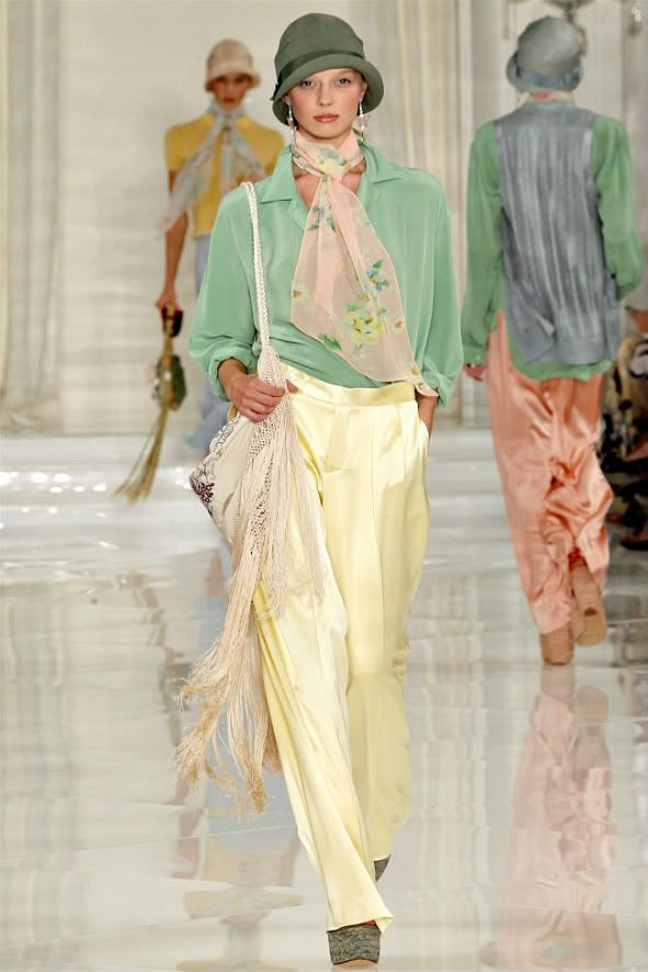 Womens Fashion Trends 1920s Charmeuse Wide Leg Pants Style Ralph Lauren Spring 2012 Pictures