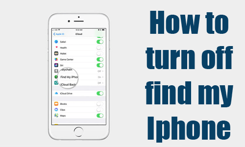 How To Turn Off Find My Iphone Mikiguru Turn Ons Iphone Features Iphone