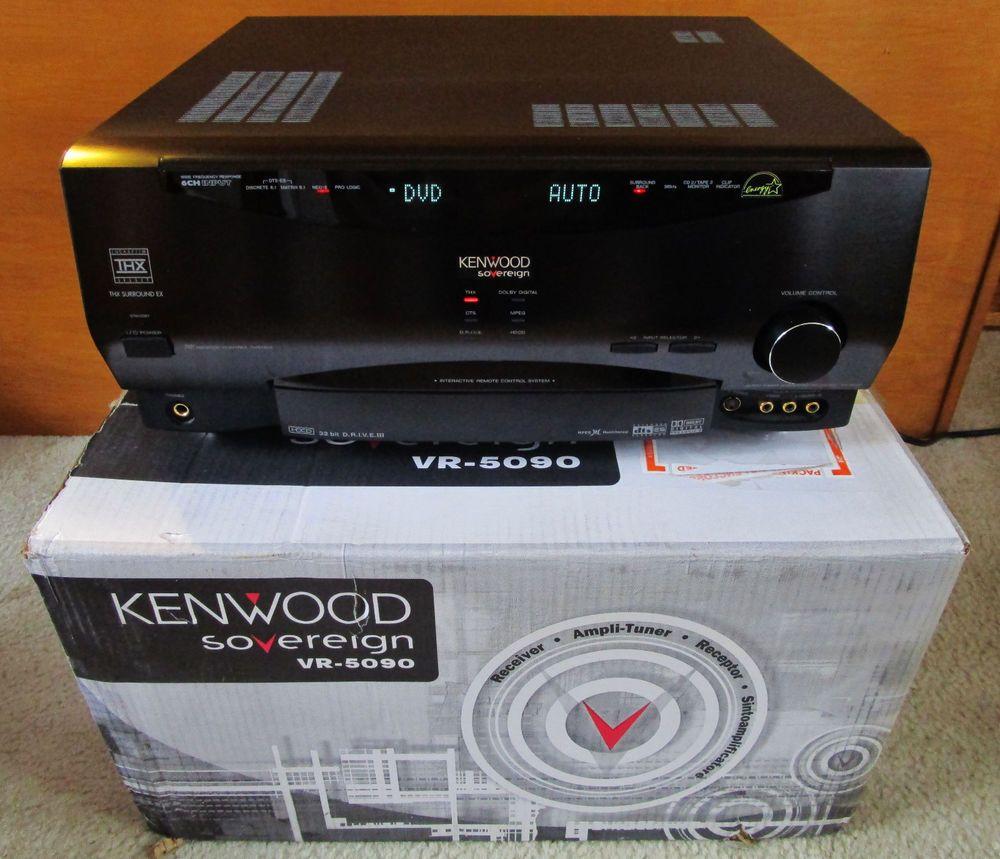 Kenwood VR 5090 5.1 Channel 400 Watt Receiver Remote Manual