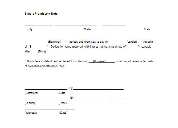 Simple Promissory Note Sample Letter from i.pinimg.com