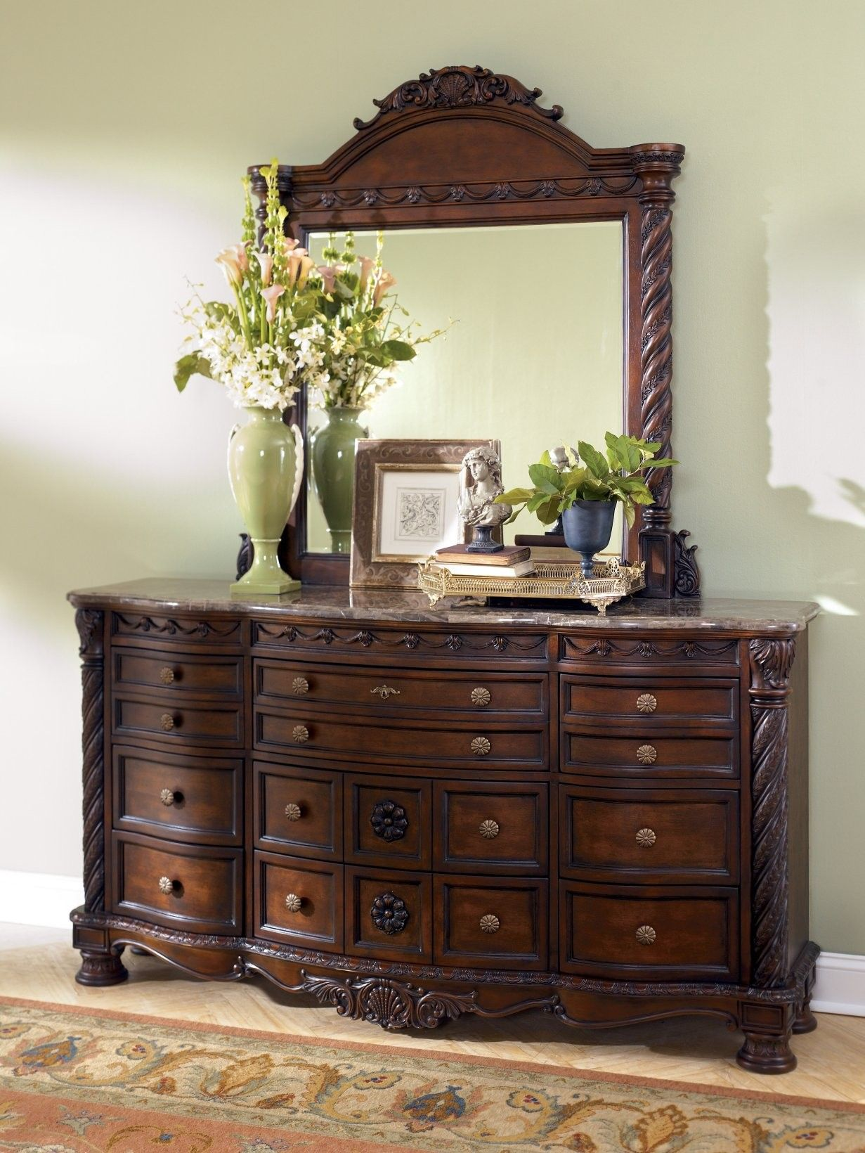 North Shore Dresser in Dark Wood CLEARANCE Ashley