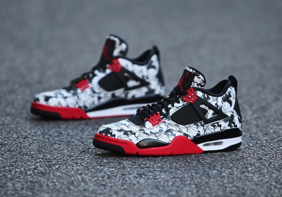 0a3c271dce 2018 Air Jordan 4 Tattoo Black Fire Red-Black-White BQ0897-006