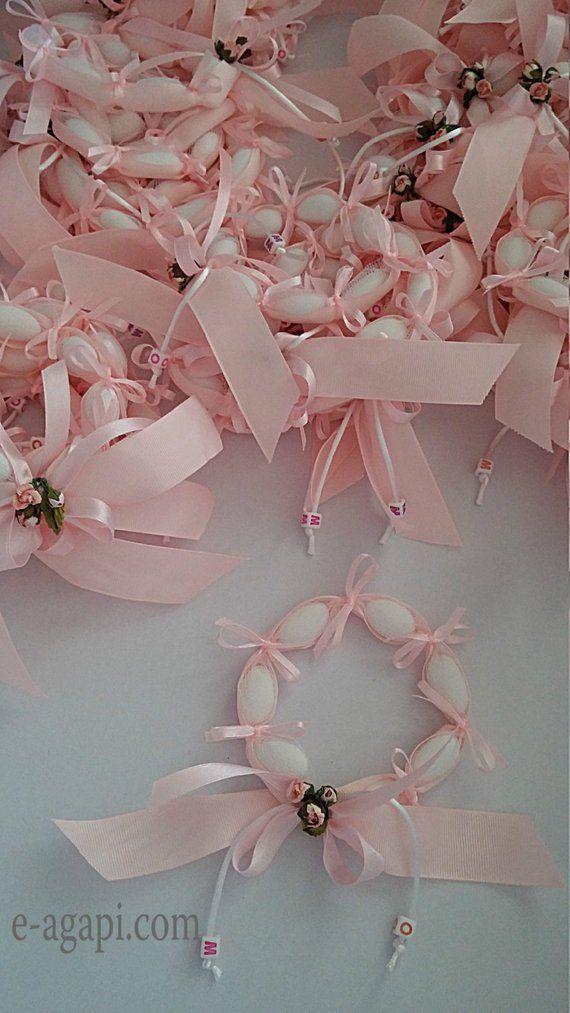 Photo of Personalisierte Gefälligkeiten Kranz 60-100 Baby Mädchen Taufe Shabby chic Gunst Geschenke Gäste einzigartige Gefälligkeiten Baby-Dusche begünstigt Idee rosa begünstigt Dragees