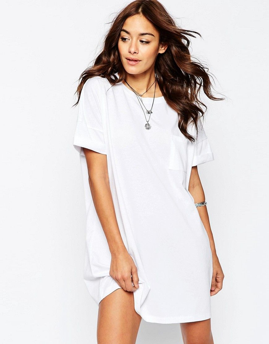 6652d4ee0335 ASOS Casual Oversize T-shirt Dress with Pocket | Style