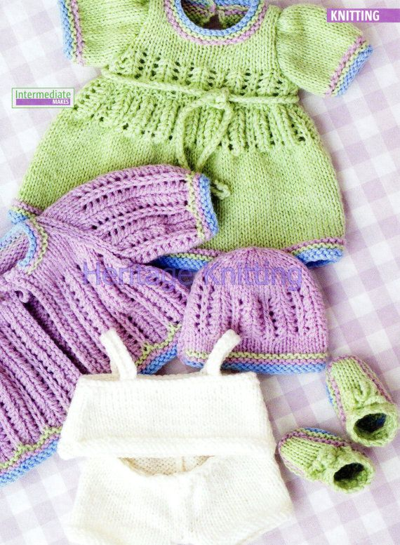 doll clothes dk knitting pattern 99p by Heritageknitting1 ...