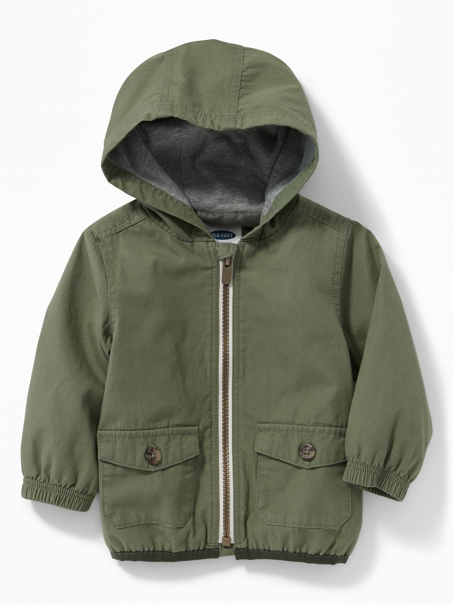 1fcee665142d Hooded Canvas Utility Jacket for Baby