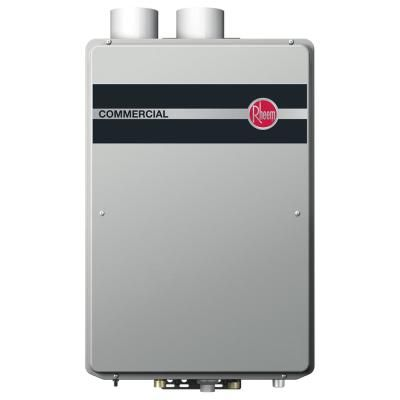 Rheem Commercial 9 5 Gpm Natural Gas High Efficiency Indoor Tankless Water Heater Rtgh C95dvln The Home Depot Tankless Water Heater Water Heater Installation Tankless Water Heater Gas