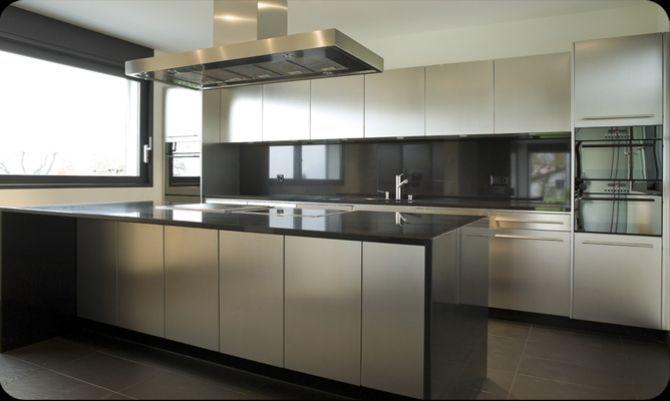 Achterwand Modern Keuken : Rvs achterwand keuken modern en functioneel sengha