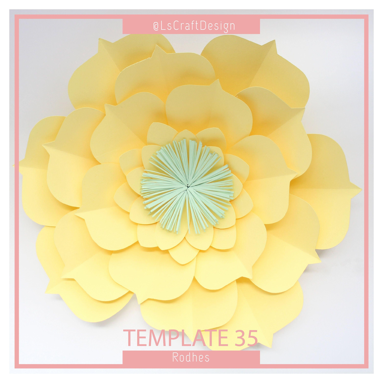 Pdf Paper Flower Paper Flower Template Big Paper Flower Giant