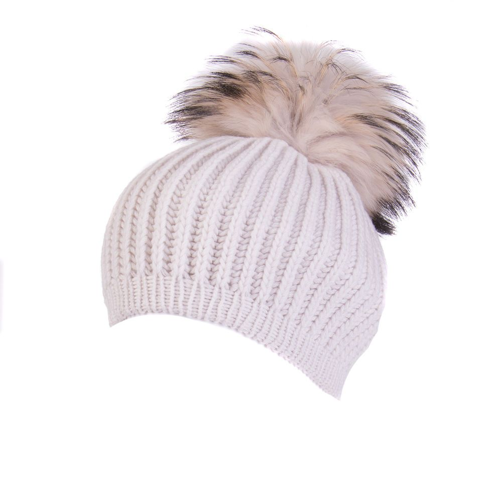 cc73c8336b5 INVERNI Cashmere Beanie Cap Finn Raccoon Fur Pom Pom Made in Italy RRP 240   fashion  clothing  shoes  accessories  womensaccessories  hats (ebay link)