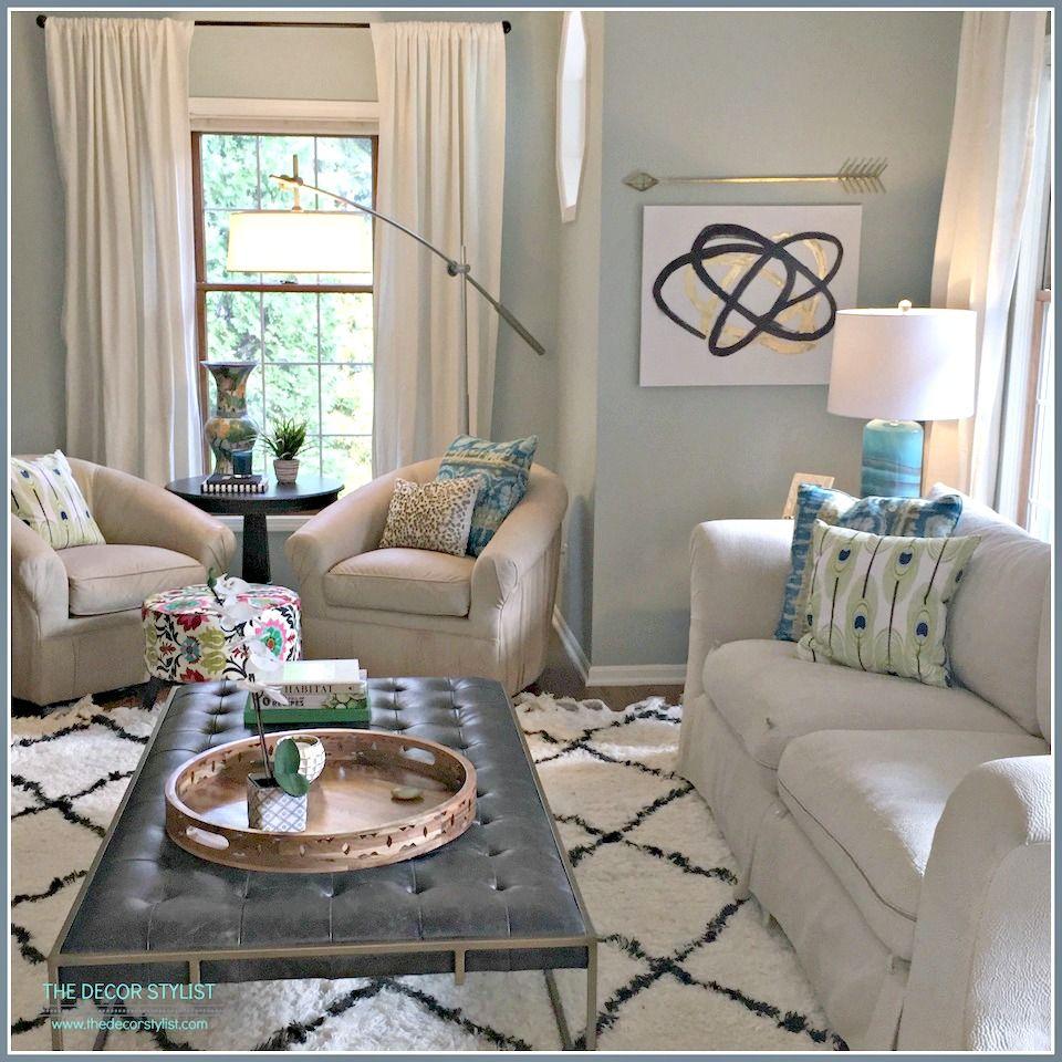 Antique White Living Room Ideas