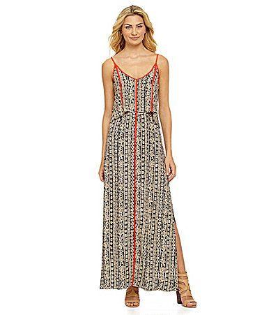 THML Floral Tribal Maxi Dress #Dillards | Pretty Little Prints ...