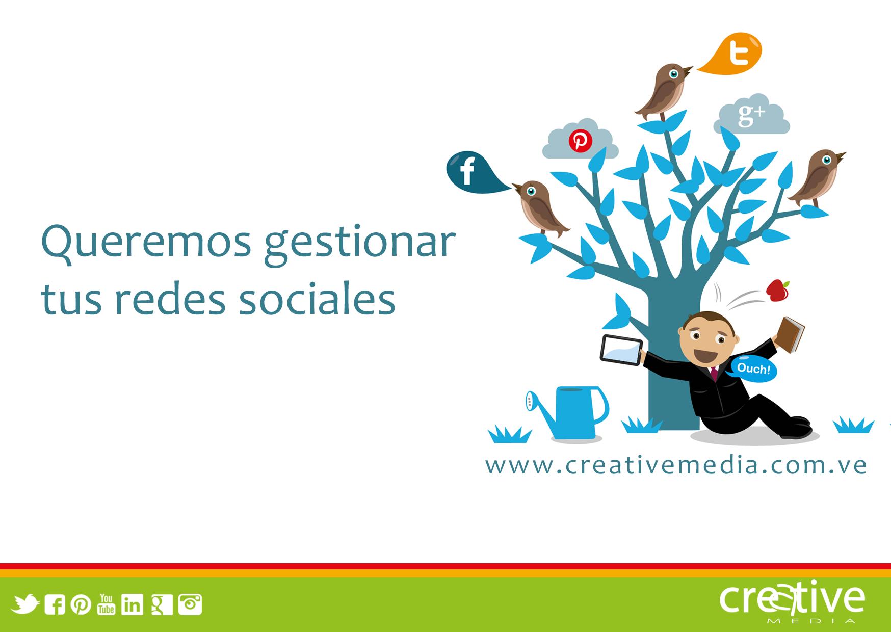 Queremos apoyarte en el desarrollo de tus estrategias para #redessociales te animas? #MarketingDigital #creativemedia