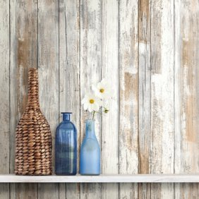 Roommates Dark Weathered Plank Peel Stick Wallpaper Image 3 Of 4 Peel And Stick Wallpaper Decorating Solutions Weathered Wood