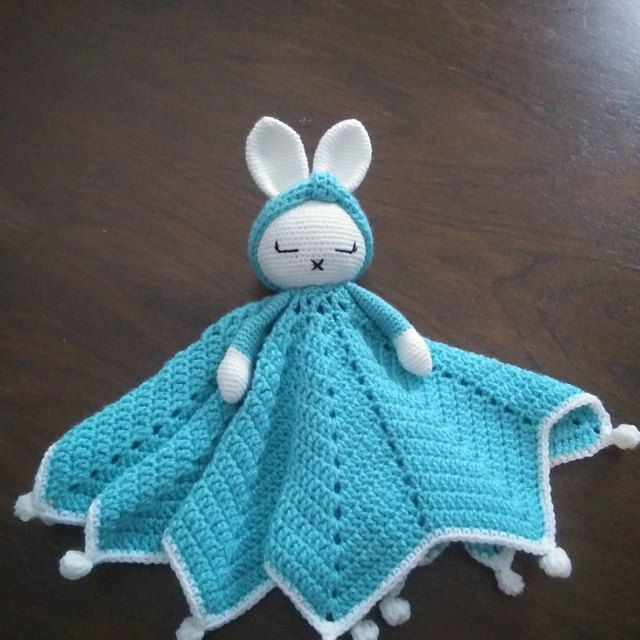 Bunny crochet lovey | Hattie The Bonnie Bunny security blanket | Crochet Pattern PDF | PATTERN ONLY in English #securityblankets