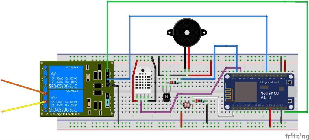 Picture of ESP8266 NodeMCU Garage Door Opener Relay IoT Fritzing.jpg ...