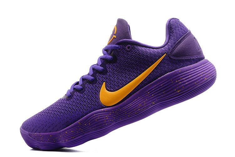 eaf38552b4e Nike Hyperdunk 2017 low Lakers Away Puple Gold