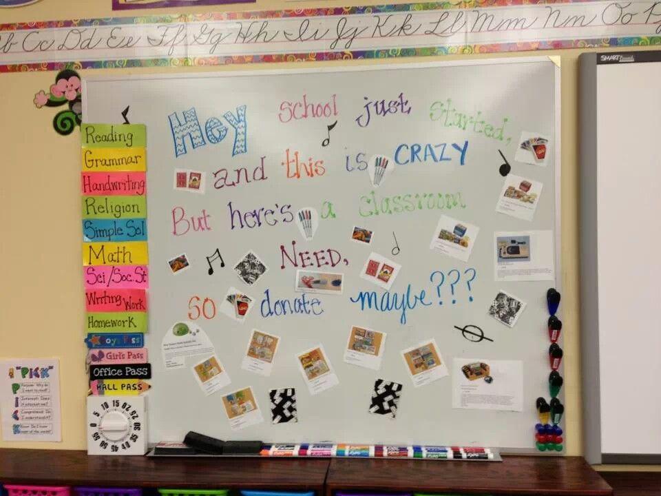 Classroom Wish List Ideas : Haha cute wish list idea beginning of the year
