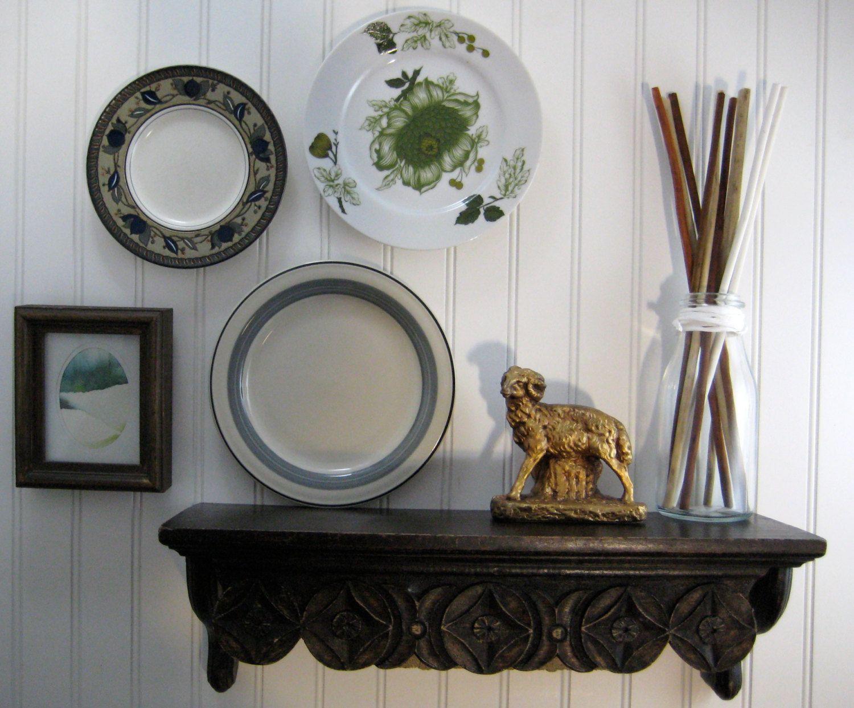 Decorative Plates, Kitchen Wall Decor, Vintage Mismatched ...