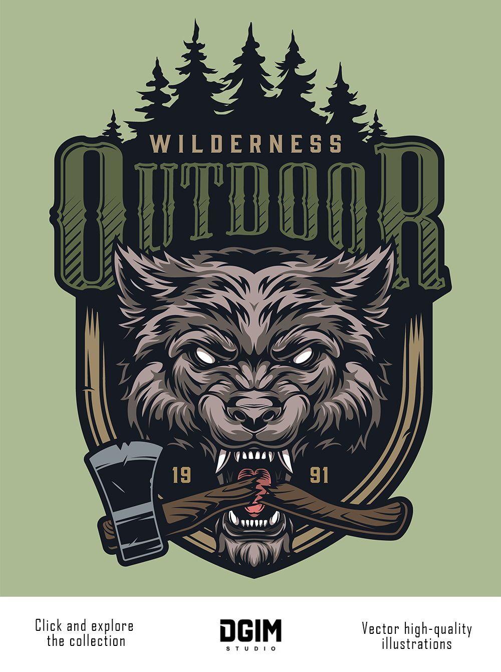 Vintage Hunting Emblems Set in 2020 Mascot design