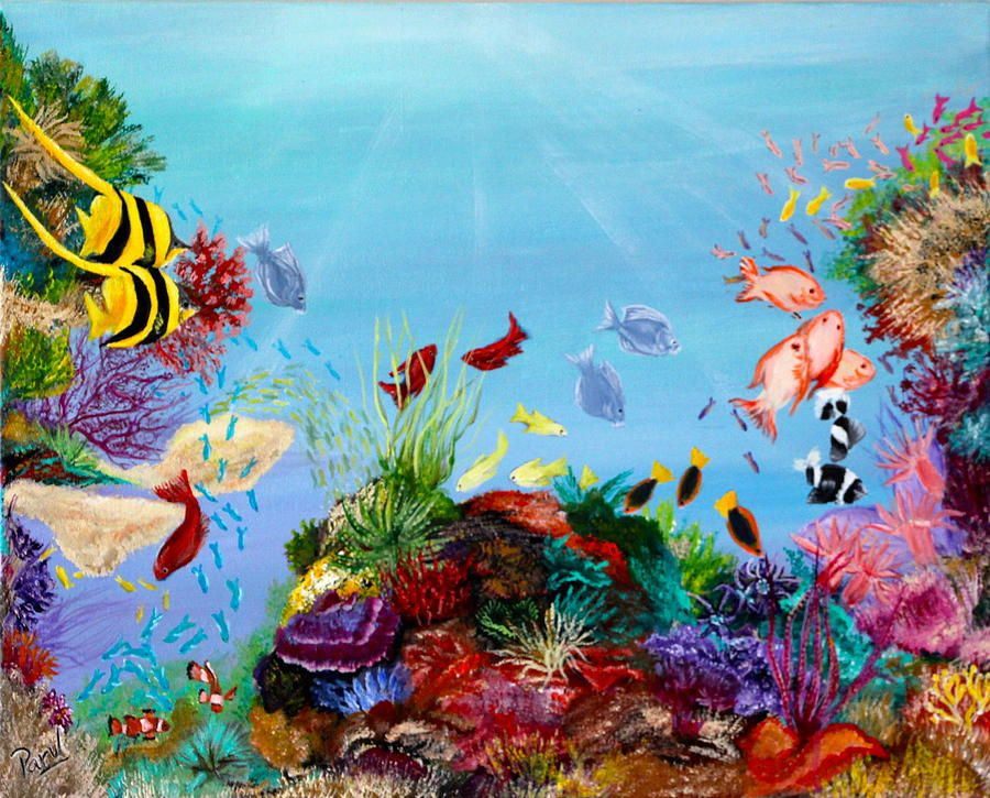 coral paintings | The Coral Reef Painting | Рисунки ...