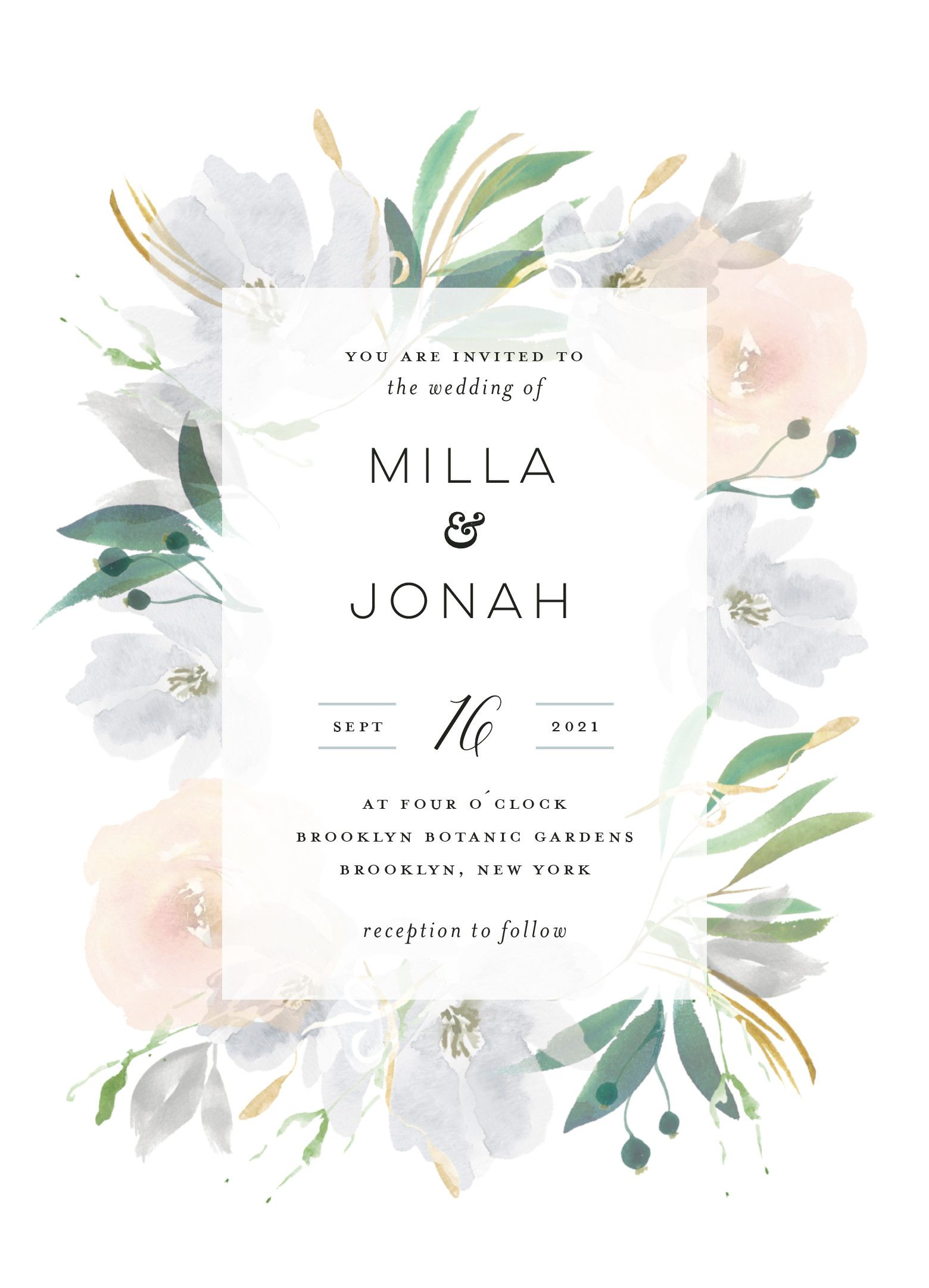 Grande Botanique Customizable Wedding Invitations In Gray By Bonjour Paper Minted Wedding Invitations Wedding Invitation Design Wedding Invitation Cards