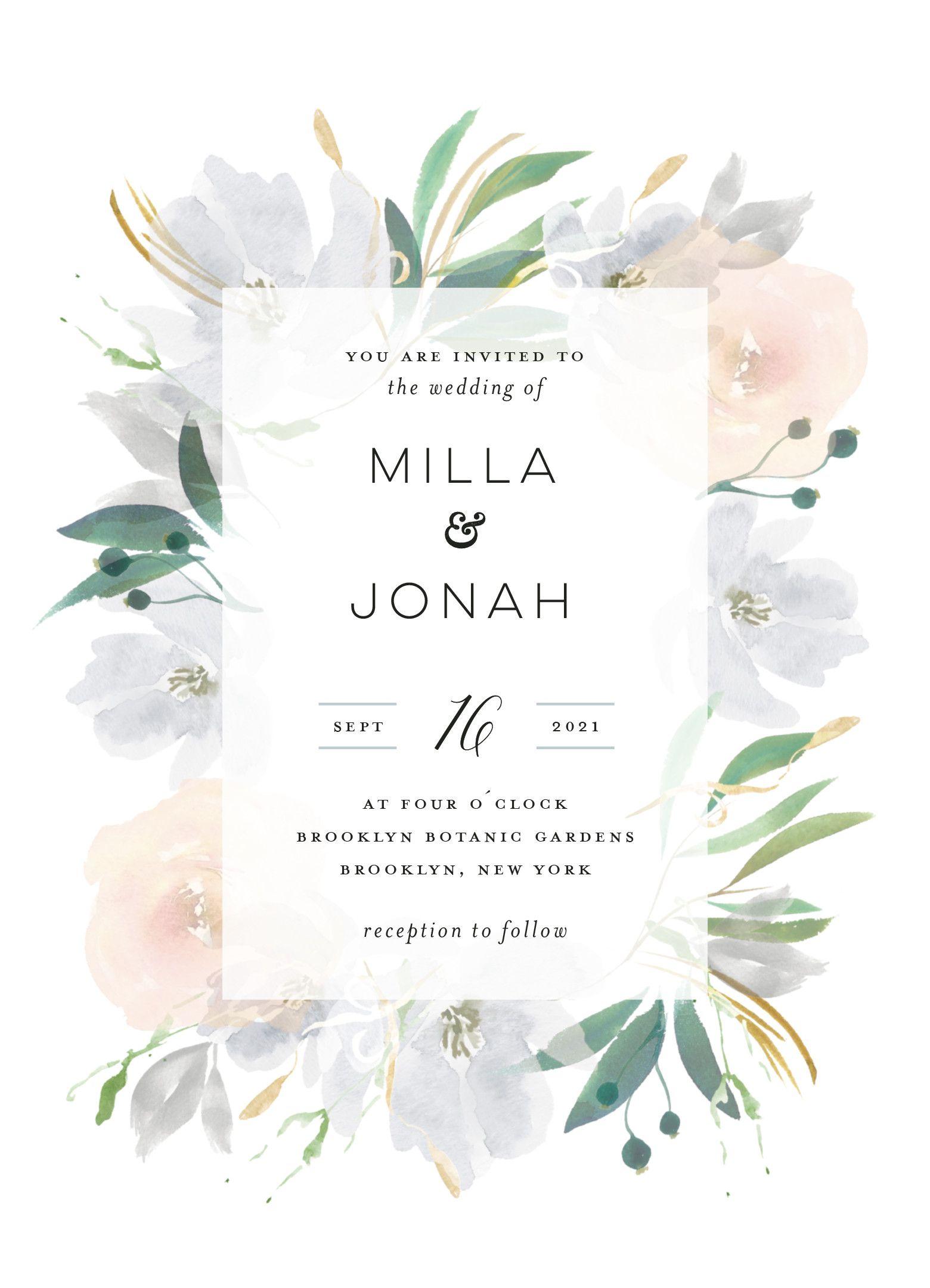 """Grande Botanique"" wedding invitation design by Minted"