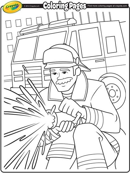 firemen make such great idols encourage your kids to color in this great fireman and - Fireman Coloring Pages