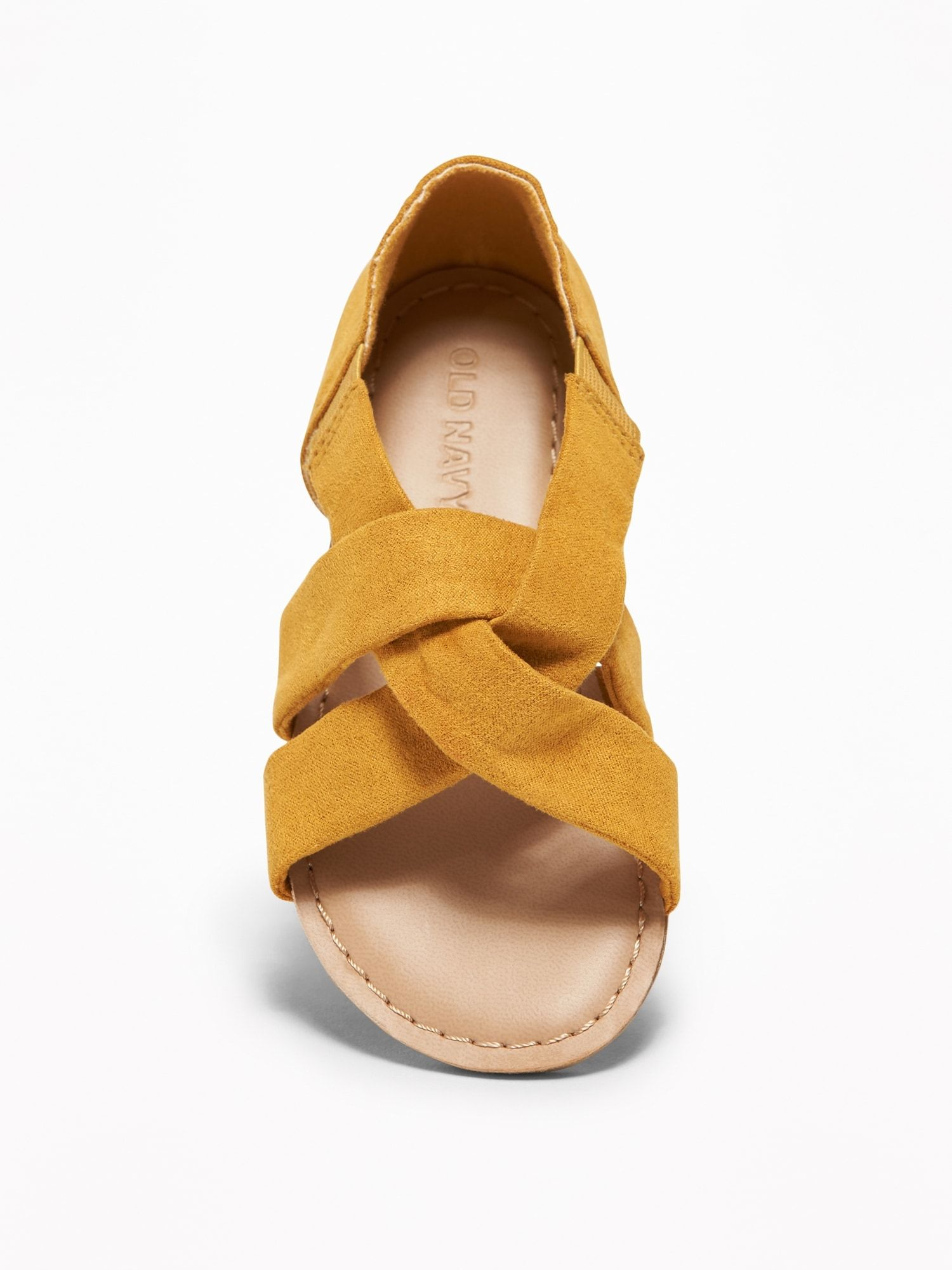88f0d5c1efc Slouchy Faux-Suede Cross-Strap Sandals For Toddler Girls
