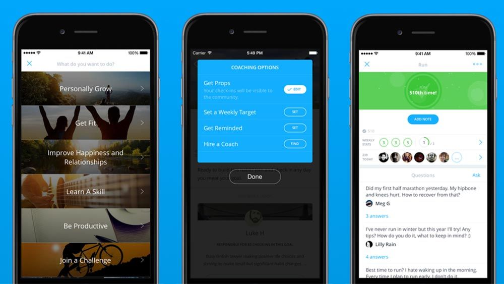 Coach.me Mobile learning, Tracking app, Habit tracking