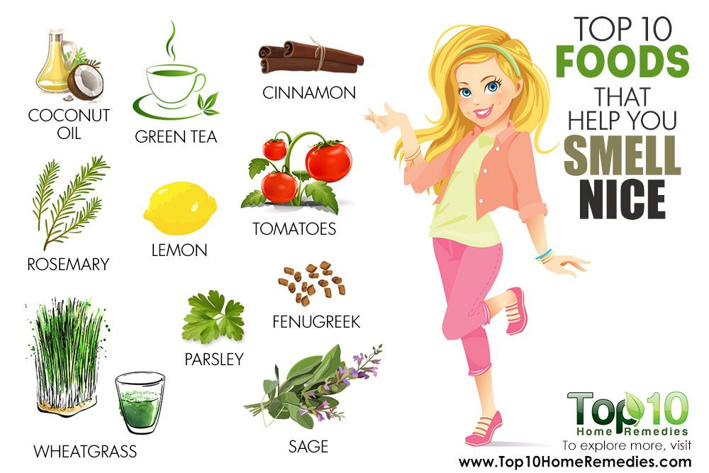 Top 10 Foods That Help You Smell Nice Top 10 Home Remedies Top 10 Home Remedies Body Smells 10 Things